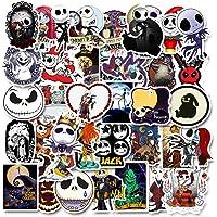 Nightmare Before Christmas Stickers| 50 PCS | Vinyl Waterproof Stickers for Laptop,Skateboard,Water Bottles,Computer…