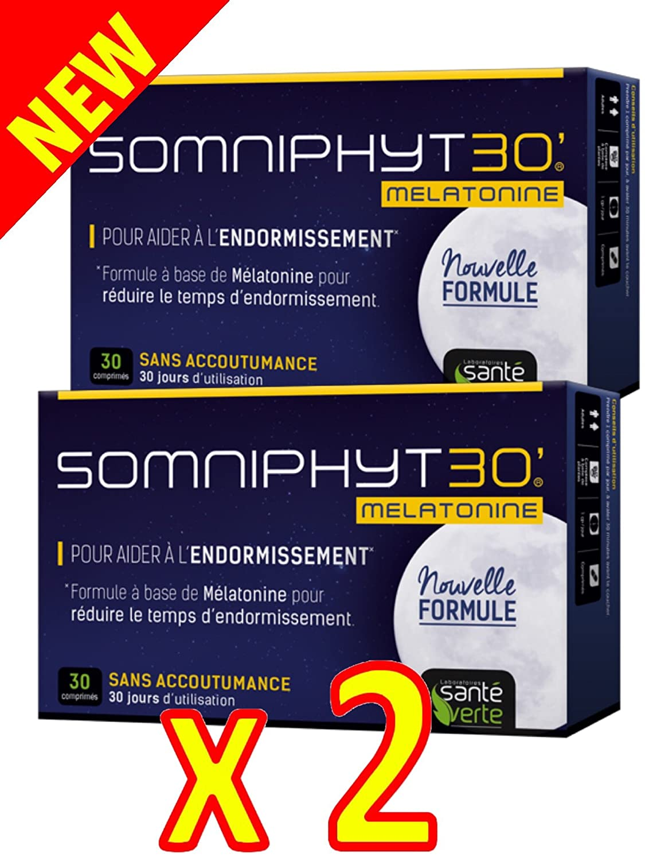 Sante verde somniphyt Melatonina 1 Mg nueva fórmula - Lote de 2 x 30 comprimés: Amazon.es: Salud y cuidado personal