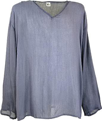 GURU-SHOP, Camisa de Yoga, Camisa Goa, Sintético, Camisas de Hombre: Amazon.es: Ropa y accesorios