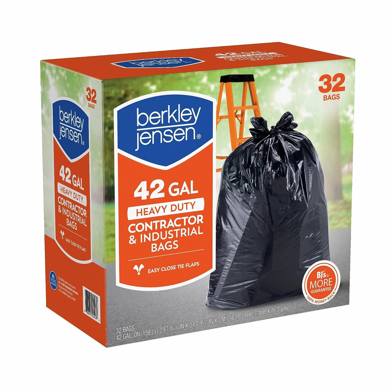 Berkley Jensen 3 mil Heavy Duty契約者& Industrial使用バッグ、42-gal。容量、32 ct。( Pack of 2 ) B06XB8X51T