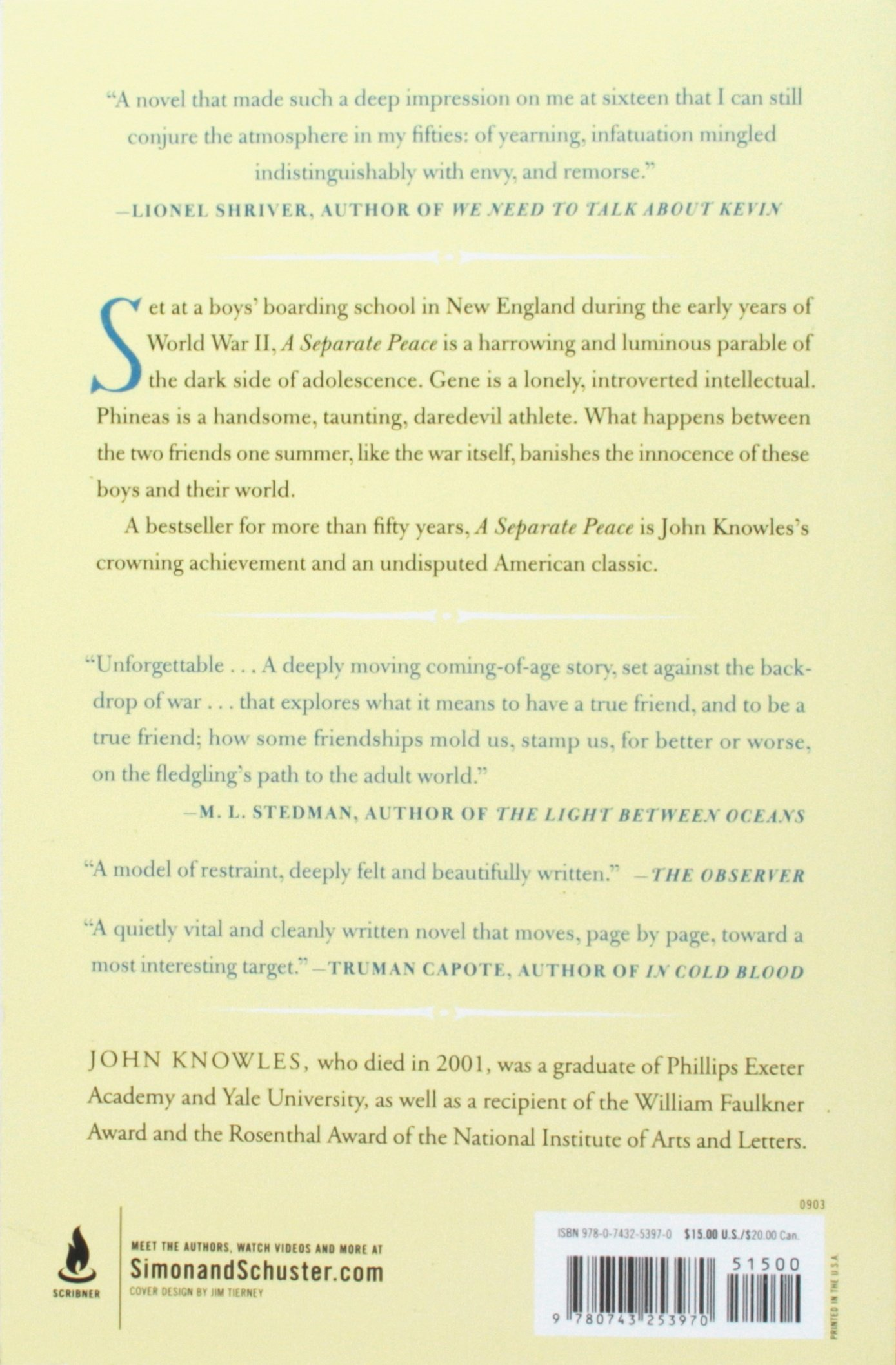 an analysis of phineas character in a separate place by john knowles This one-page guide includes a plot summary and brief analysis of a separate peace by john knowles a separate peace gene and phineas knowles said.