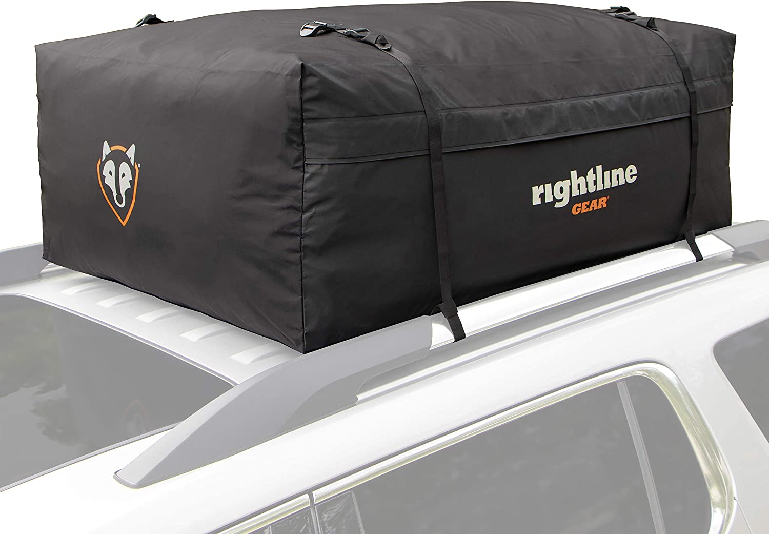 Rightline Gear Range 3 Car Top Carrier, 18 cu ft, Weatherproof +, Attaches With or Without Roof Rack