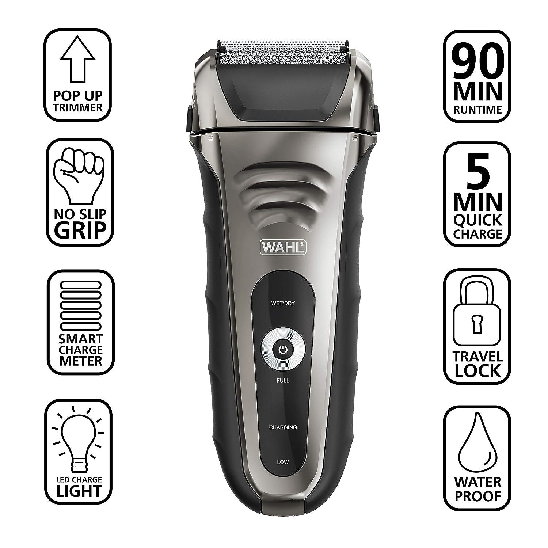 81Mb%2BZmwiSL. SL1500 Wahl Smart Shave Waterproof Foil Shaver Review