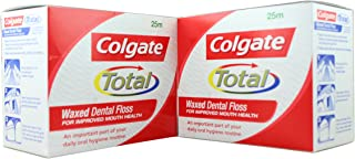 product image for Colgate Waxed Dental Floss For Improved Mouth Health - Pack of 12 (2 Box 25Mtr. Each) Original Company Pack.