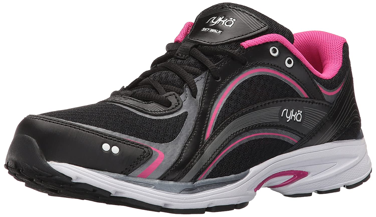 Ryka Women's Sky Walking Shoe B01KWBVEN8 6 W US|Black/Pink