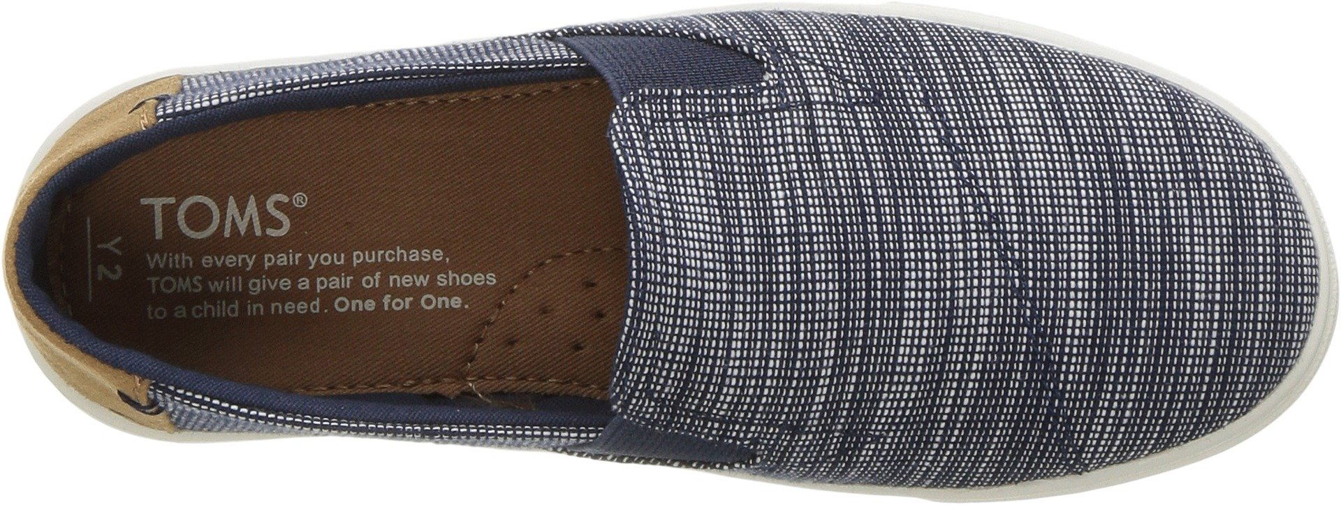 TOMS Kids Unisex Luca (Little Kid/Big Kid) Navy Striped Chambray 13 M US Little Kid by TOMS Kids (Image #2)