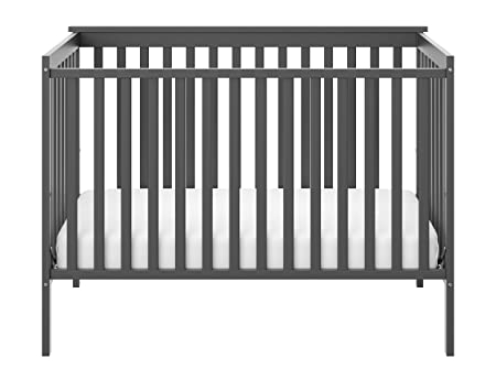 Storkcraft Sheffield Fixed Side Convertible Crib, Gray
