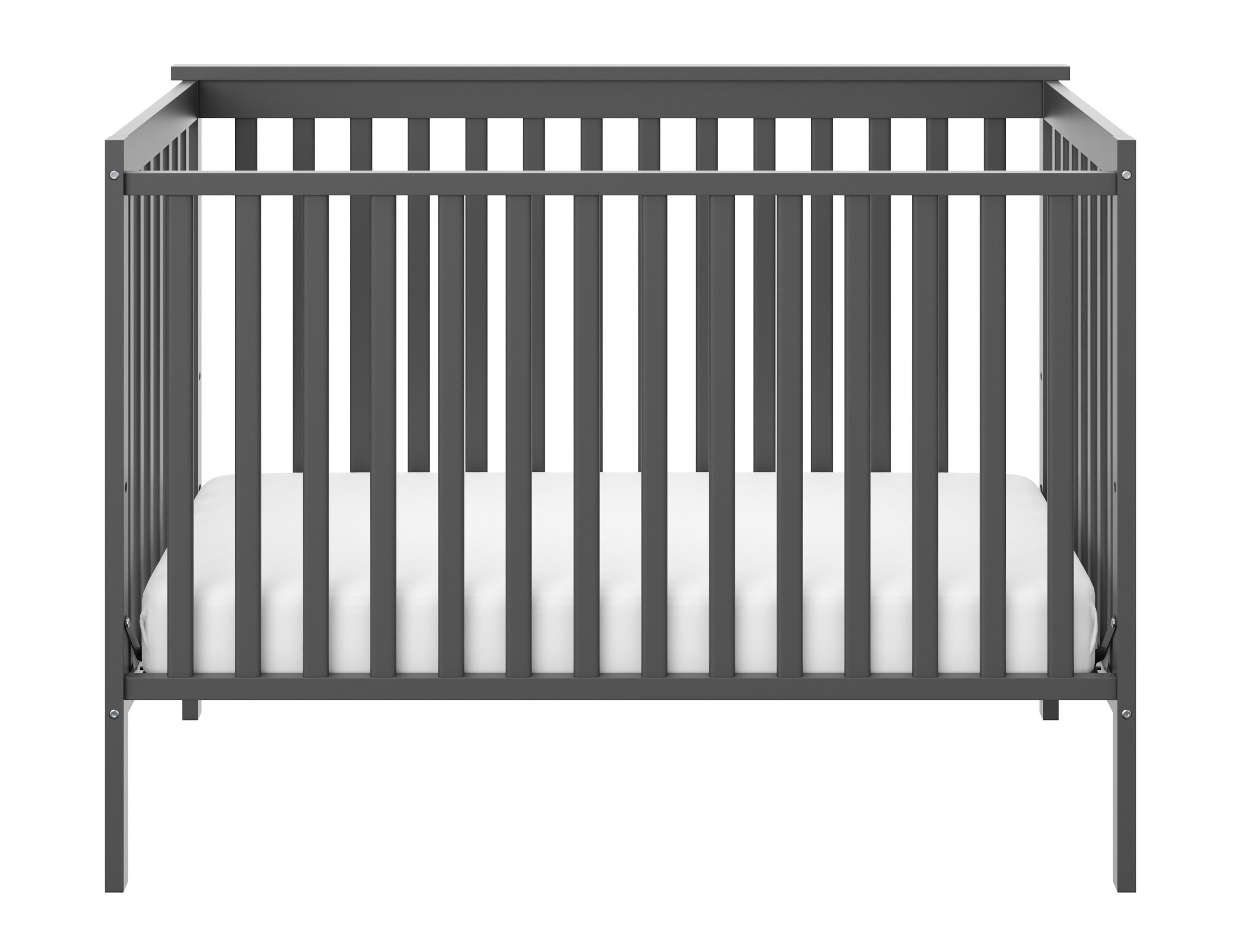 Stork Craft Sheffield Fixed Side Convertible Crib, Gray by Stork Craft