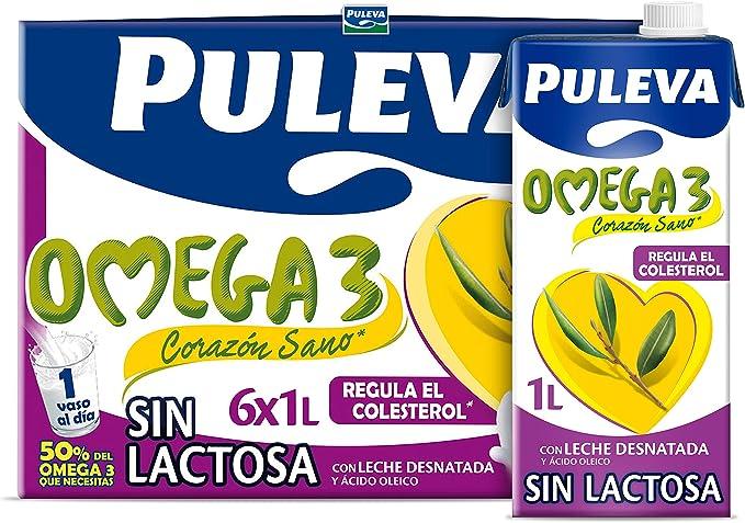 Puleva Omega 3 Leche sin Lactosa, 6 x 1L: Amazon.es ...