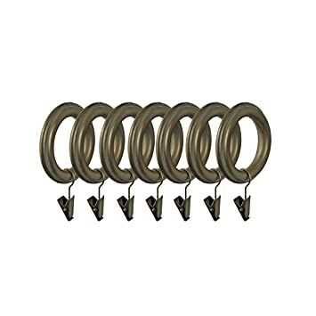 Curtains Ideas 2 inch curtain rings with clips : Amazon.com: BEME International 2-Inch Inner Diameter Wood Drapery ...