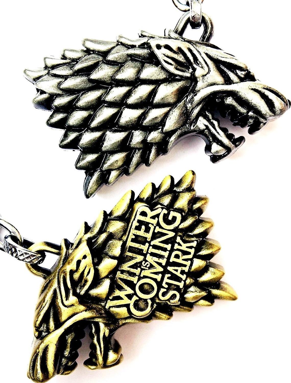 Stark Direwolf Keychain - Game of Thrones Themed Keychain