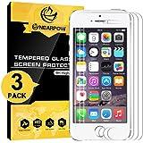 [3 Stück] iPhone SE 5S 5 5C Panzerglas Displayschutzfolie, Nearpow Schutzfolie 9H Härte, Anti-Kratzen, Anti-Öl, Anti-Bläschen, Anti-Fingerabdruck