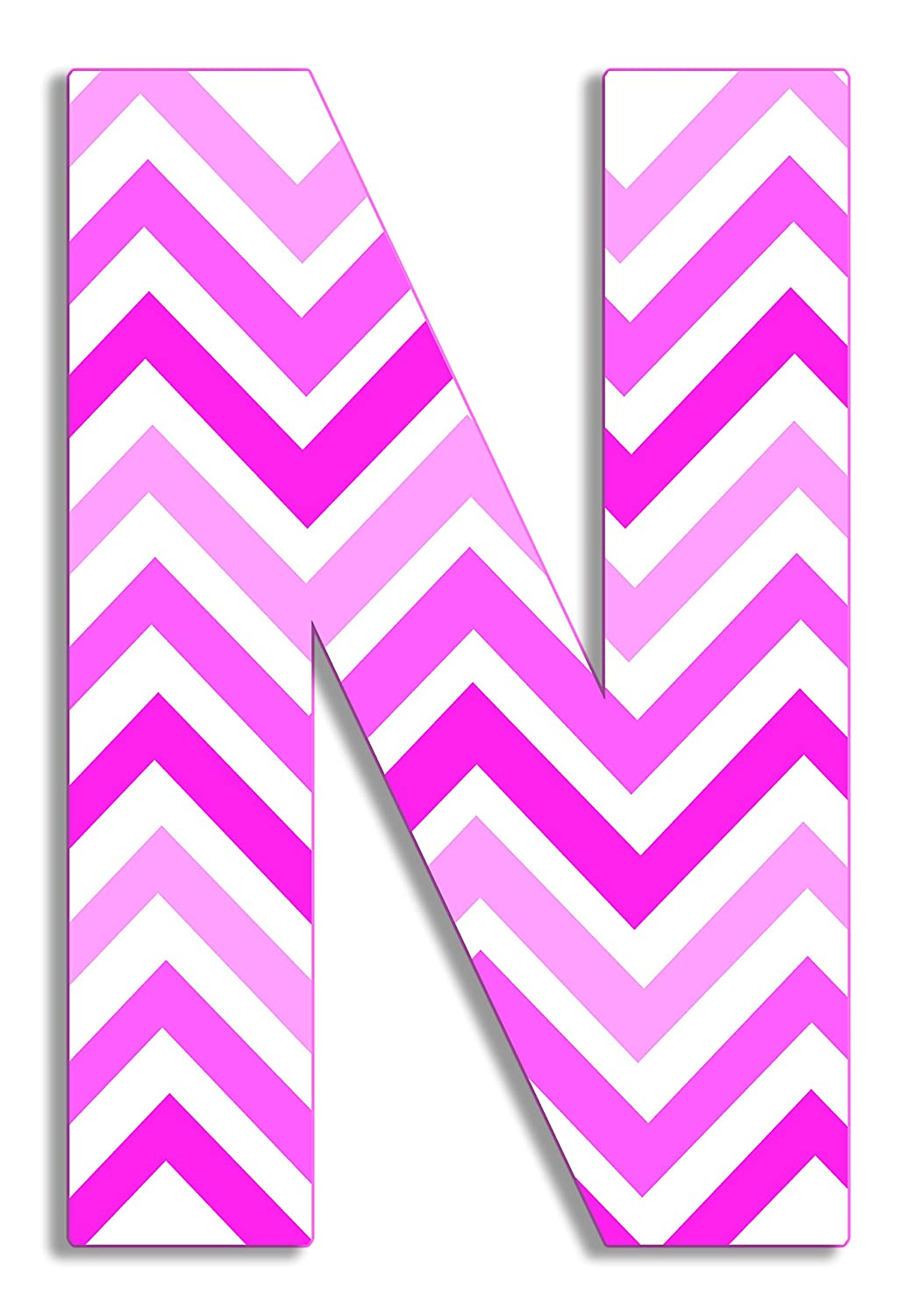 Proudly Made in USA The Kids Room by Stupell OHI-101 W 12 x 0.5 x 18 Stupell Home D/écor Tri-Pink Chevron 18 Inch Hanging Wooden Initial