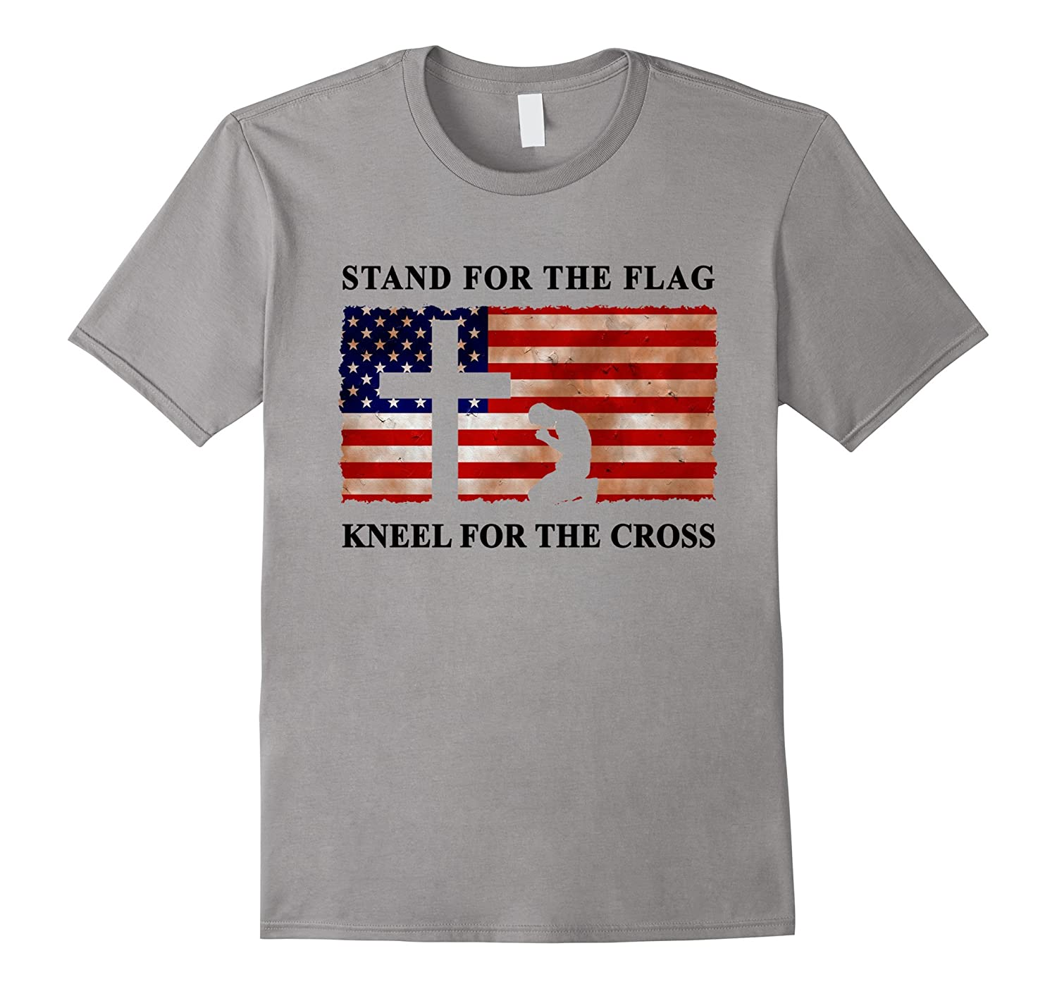 Stand For The Flag Kneel For The Cross T-Shirt Trump Tee USA-T-Shirt