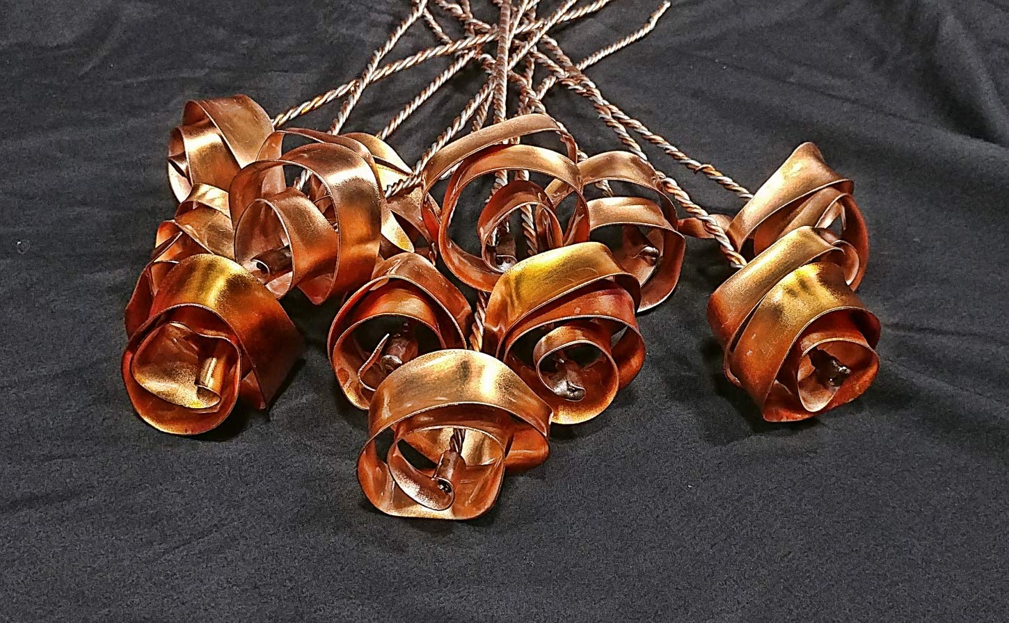 Set of 3 Bright Copper Forever Roses #813'' I Love You'' Steampunk - Wedding Prom Graduation 7th Anniversary Regalo de Aniversario Hanukkah Kwanzaa Valentine's Mother's Day Christmas Gift ! by Refreshing Art (Image #7)