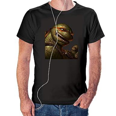 Camisaurio Camiseta de Michelangelo Loco- Las Tortugas ...