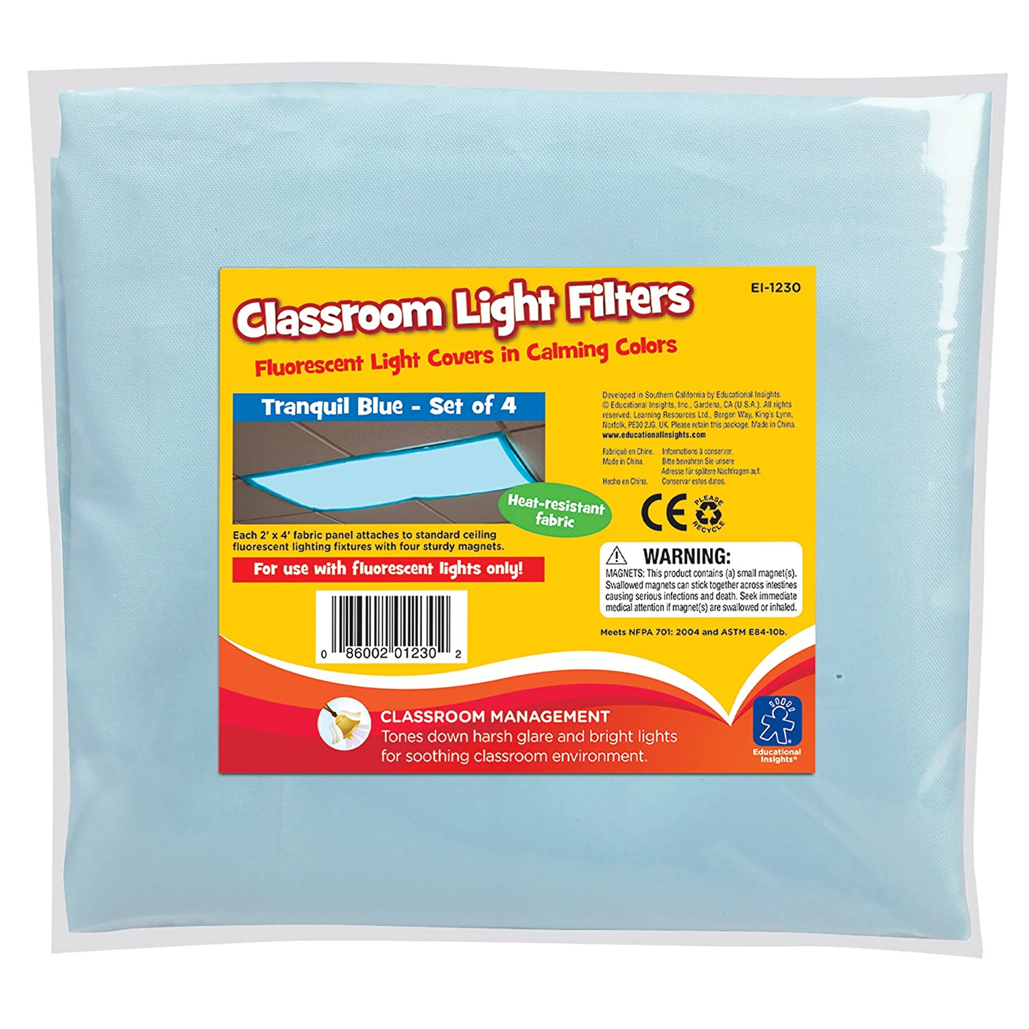 Fluorescent Kitchen Light Covers Amazoncom Educational Insights Fluorescent Light Filters