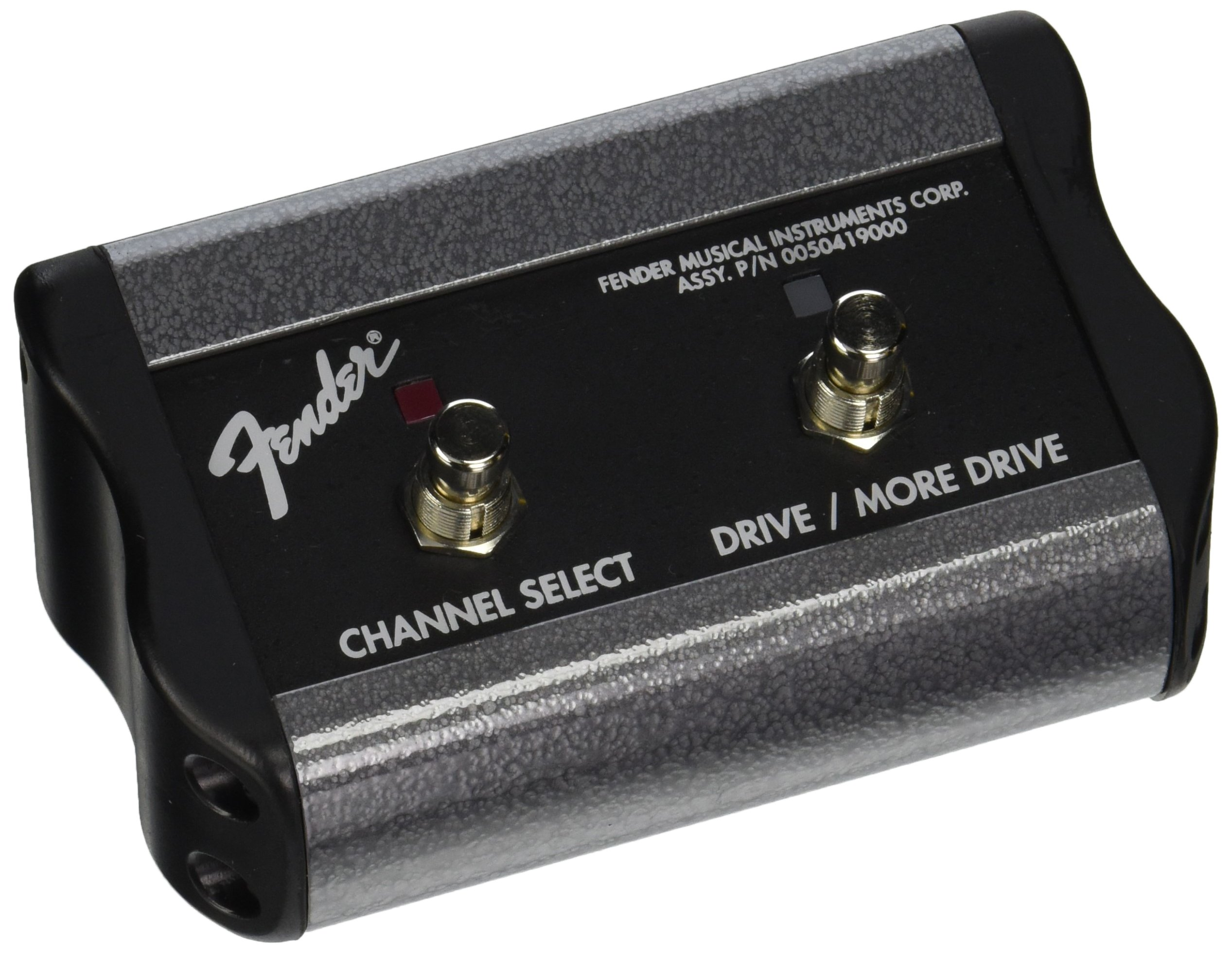 Fender 2-Button 3-Function Footswitch: Channel/Gain/More Gain with 1/4-Inch Jack by Fender