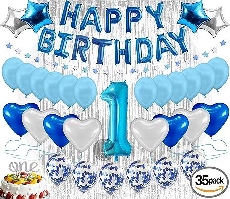 amazon com 1st birthday decoration for baby boy first birthday