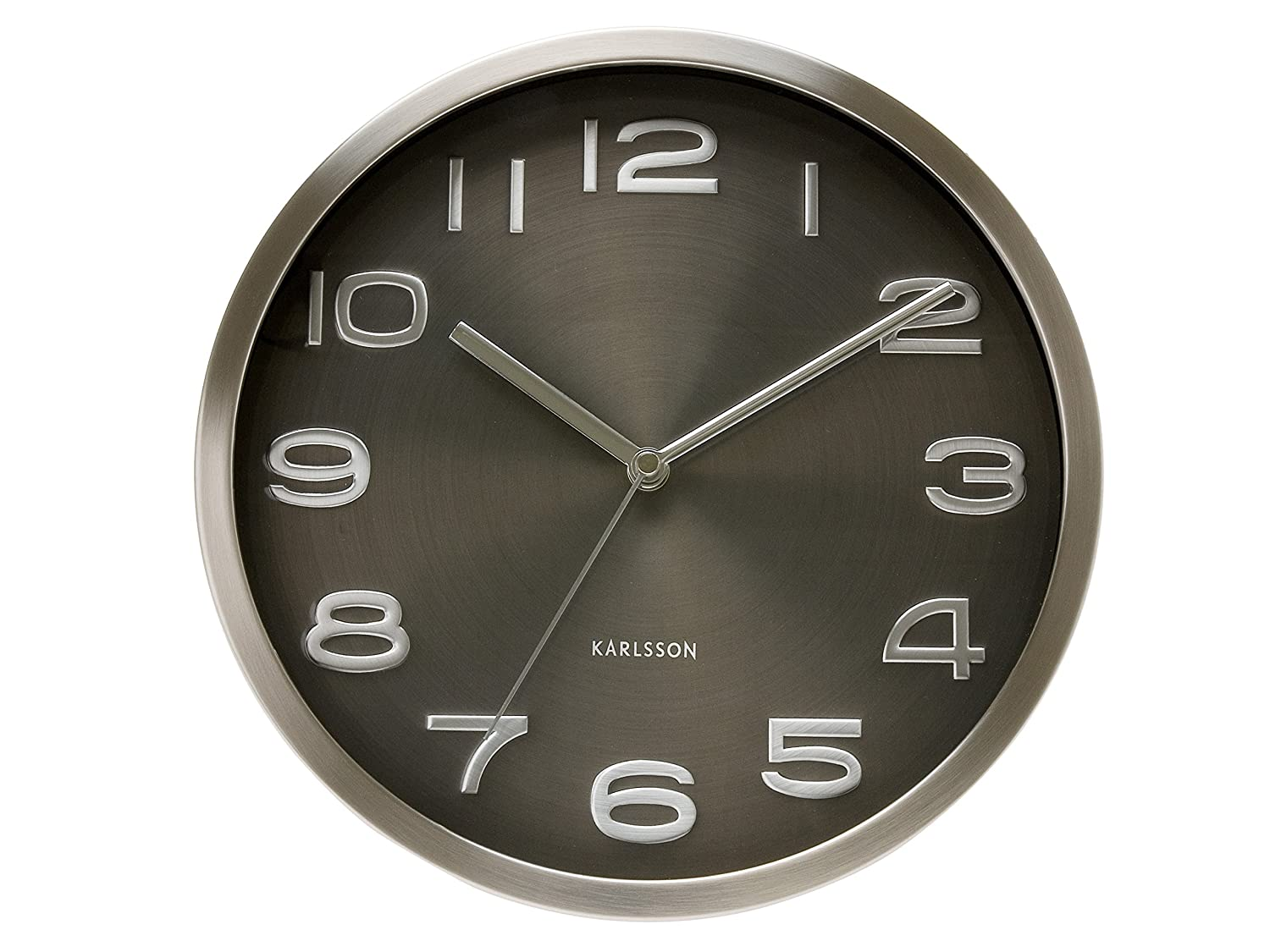 Amazon karlsson wall clock maxie black home kitchen amipublicfo Gallery