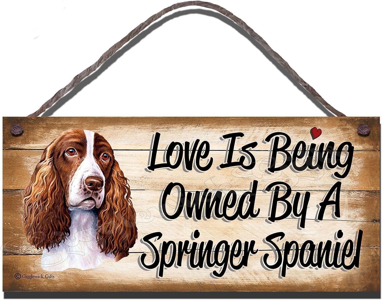 English Springer Spaniel Sign Plaque Wall Decor Black