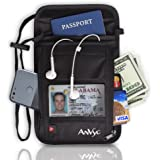 Neck Wallet with RFID Blocking - Travel Pouch and Passport Holder