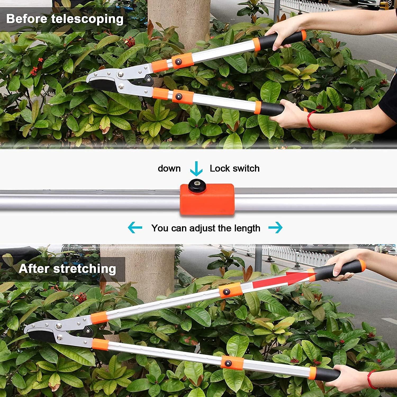 Astschneider f/ür Zweige mit 45mm Durchmesser Gartenger/äte Tote /Äste Abschneiden Baumschere Teleskop Astschere Verstellbare Griffen