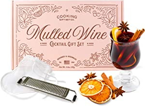 Cooking Gift Set | 9 PC Mulled Wine Cocktail DIY Kit | Wine Gifts for Mom, Friend Gifts, & Wife Gifts (Peach)