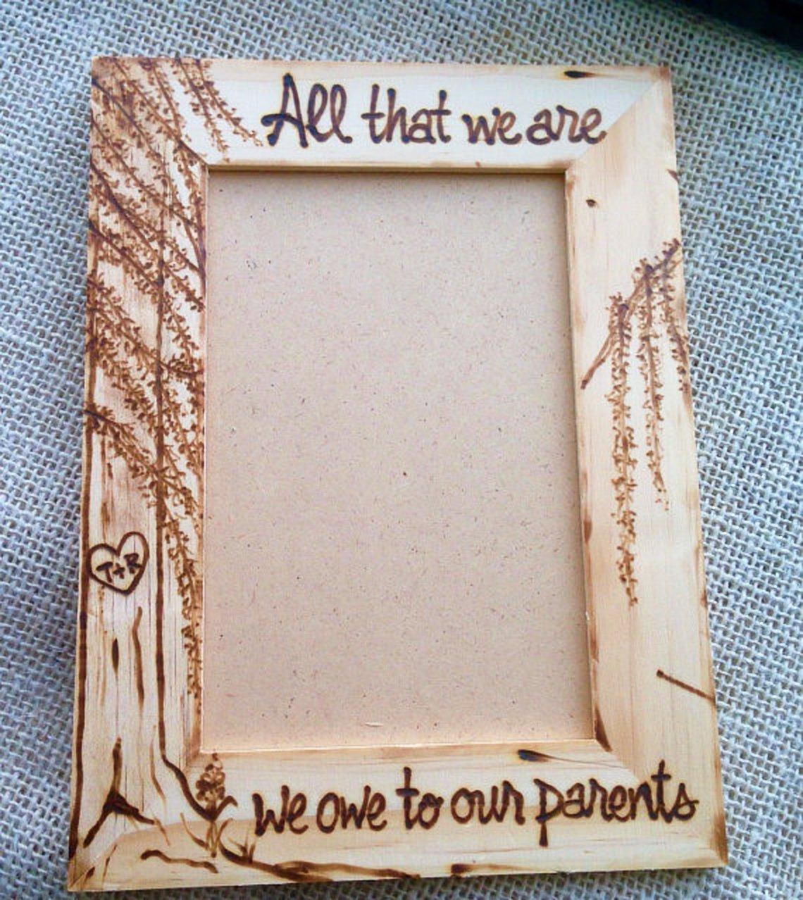 Amazon Com Inspirational Wedding Frames For Parents Of The Bride Groom Handmade