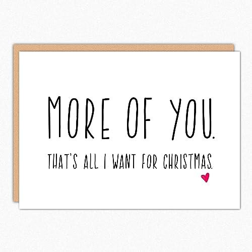 boyfriend christmas card more of you husband christmas card christmas love card - Christmas Card For Girlfriend
