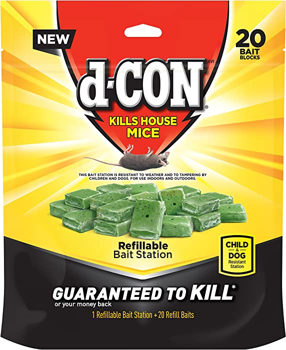 D-CON Refillable Corner Fit Mouse Poison