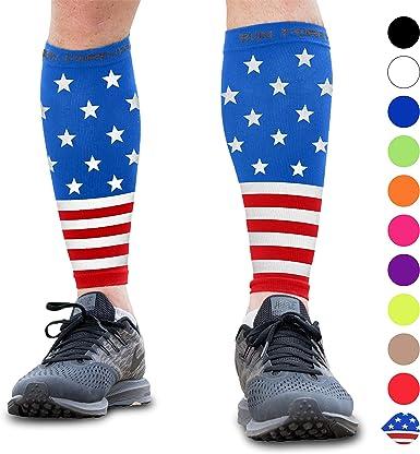 Womens I Love USA Heart Flag Thigh High Socks For Athletic,Running,Travel,Nurses,Fitness