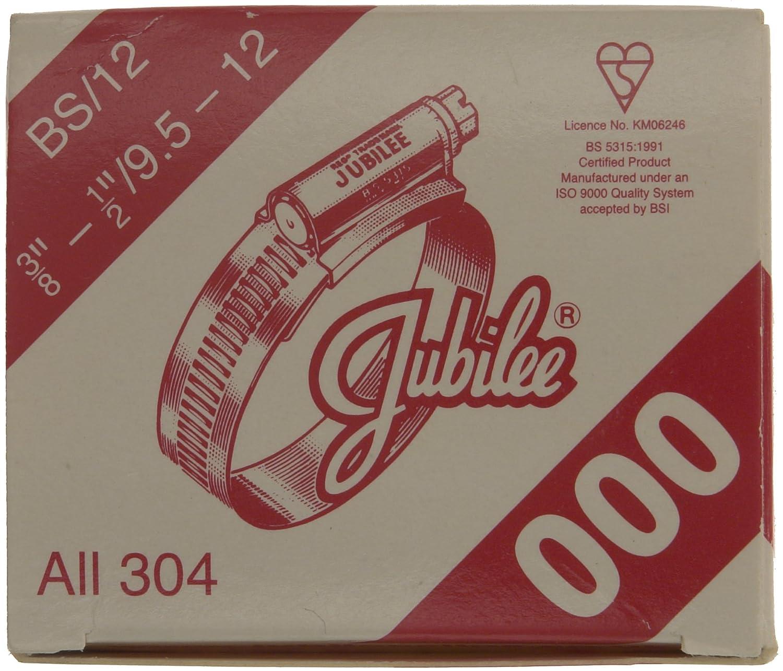 9,5//° /° 12//° mm pinces en acier inoxydable de Jubilee 000ss 000