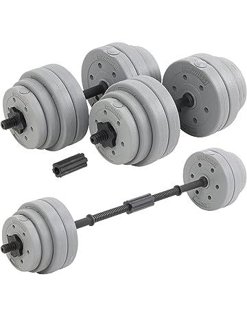 744db88141 DTX Fitness Bilanciere regolabile a bilanciere da 30 kg con manubri  bilancieri e pesi - argento