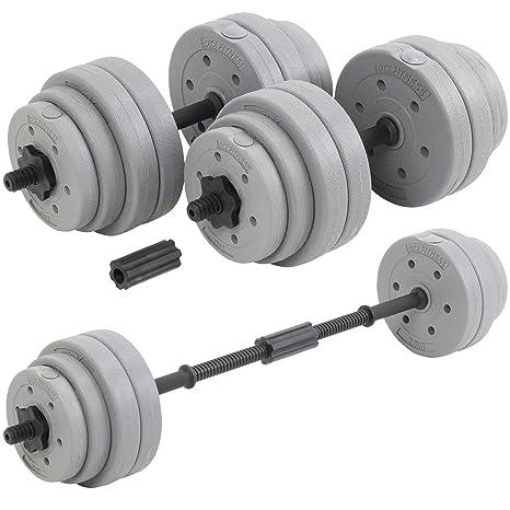 Juego de discos y barras para levantamiento de pesas regulable ...