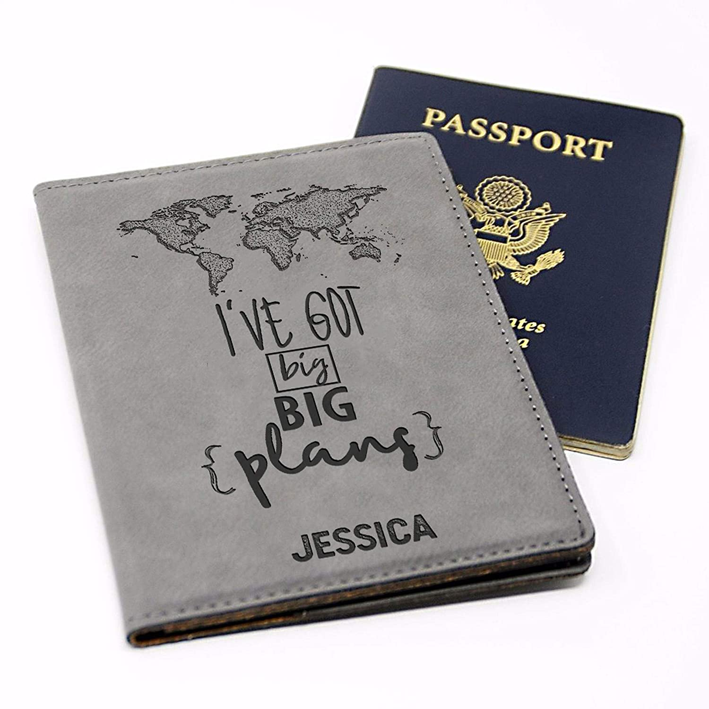 Personalized Passport Holder Cover Customized Wallet Travel Honeymoon Overseas American Passport