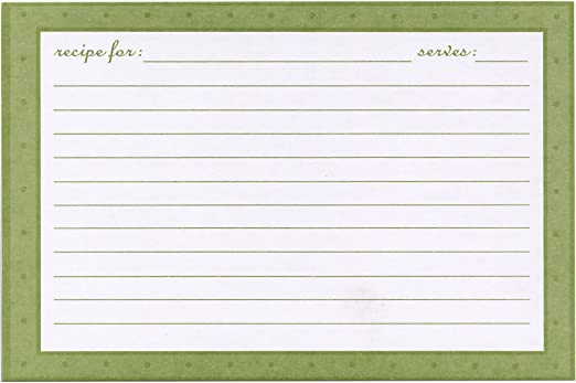 Newlyweds Meadowsweet Kitchens Recipe Card Set of 25 4 x 6 cards