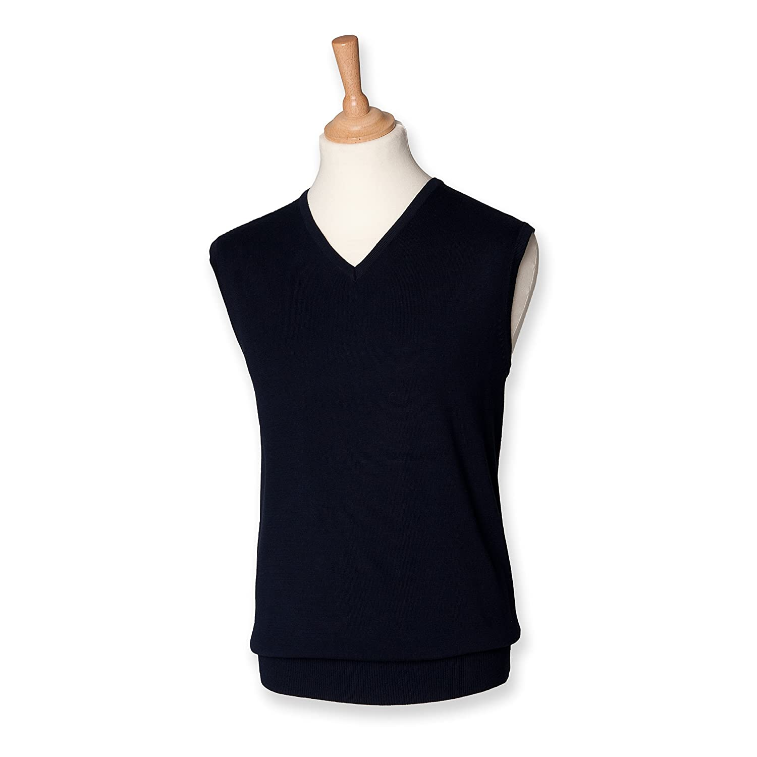 Henbury Men's Lightweight V Neck Sleeveless Sweater