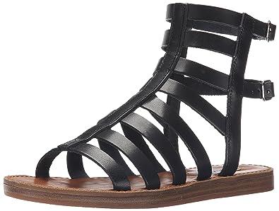 a367065d5c7 Steve Madden Women s BEEAST Gladiator Sandal Black Leather 6 ...