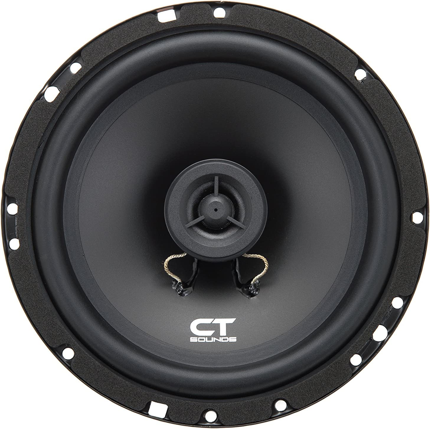 "CT Sounds 6.5 Inch Coaxial Car Speakers, 2 Way Full Range, 30W (RMS) | 60W Max Power Per Speaker, 0.8""/21mm Voice Coil, Silk Dome, Easy Mounting, 4 Ohm Impedance"