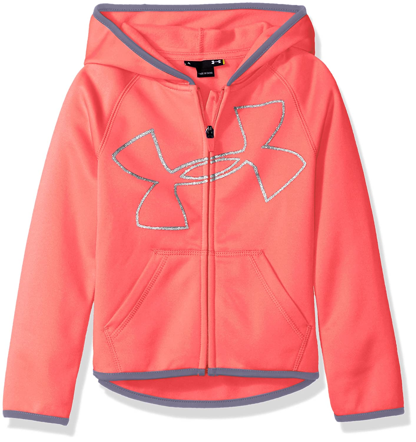 timeless design a73f6 03c99 Amazon.com  Under Armour Girls  UA Logo Zip Hoodie  Clothing