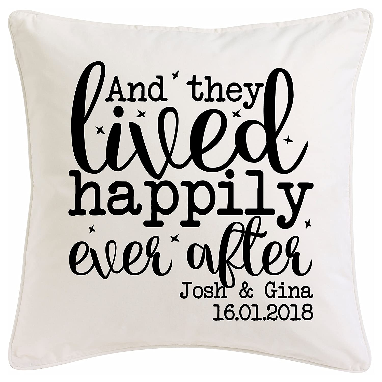 Vintage Personalised Wedding Cushion. Very Romantic Anniversary or ...
