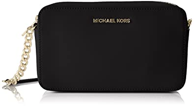 Michael Kors Womens Jet Set Small Cross-Body Bag Black