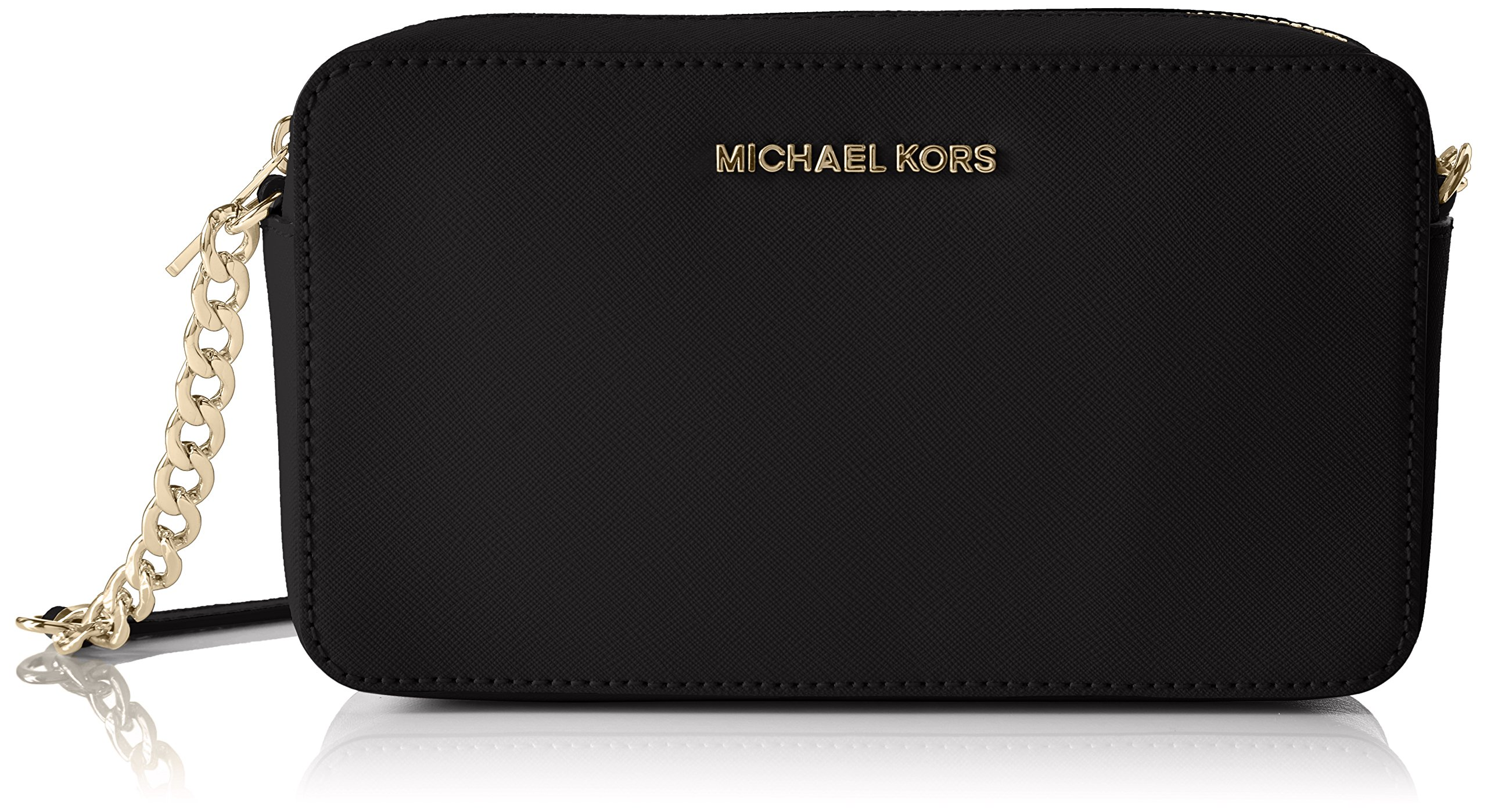 MICHAEL Michael Kors Women's Medium Jet Set Cross Body Bag, Black, One Size