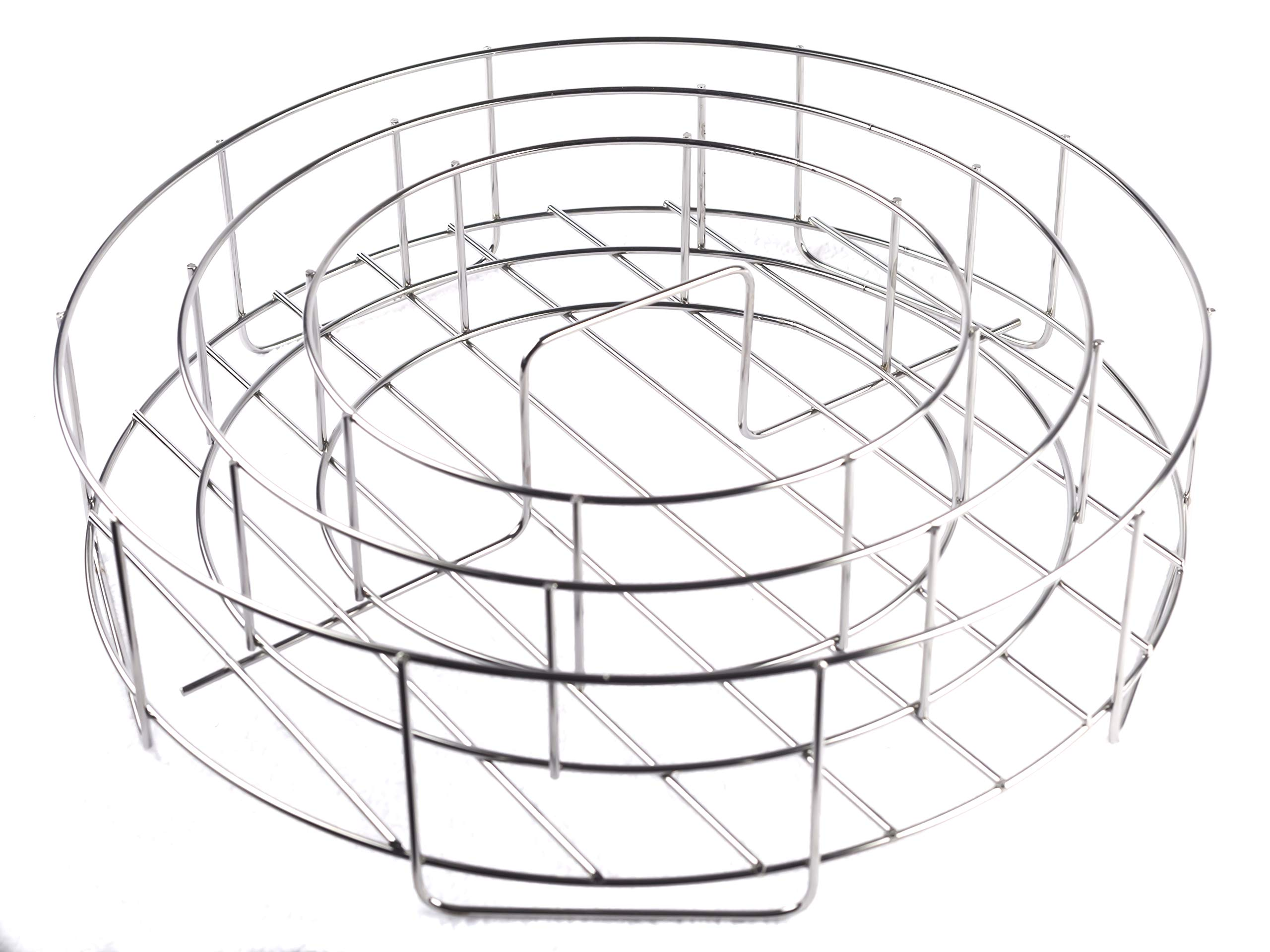 BBQ Guru Rib Rings - Rib Rack and Chicken Roaster for Weber, Green Egg, Kamado Joe, Vision, Grill Dome, Primo Grills and Indoor Ovens by BBQ Guru (Image #4)