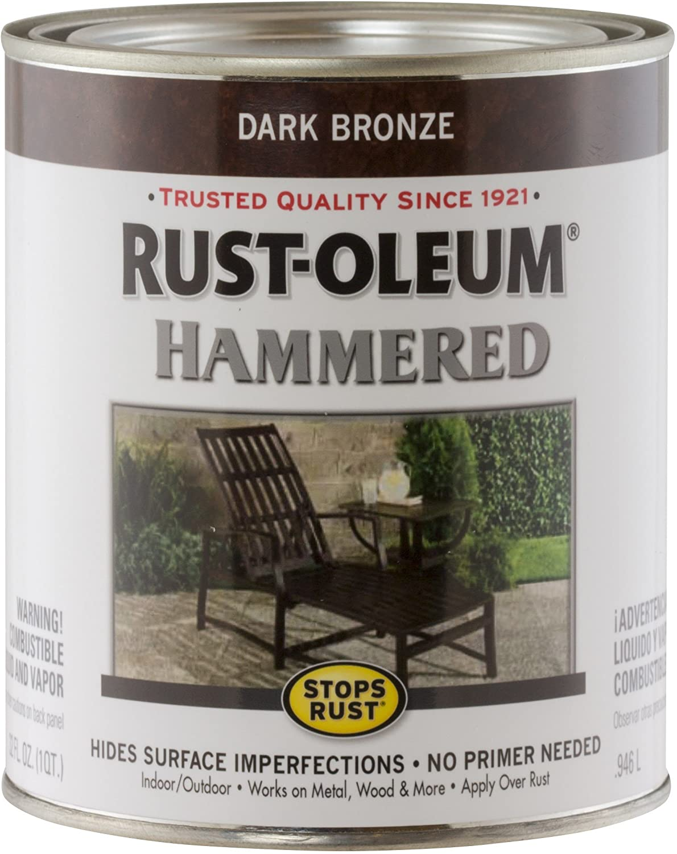 Rust-Oleum 239075 Hammered Metal Finish, Dark Bronze, 1-Quart (Packaging may vary)