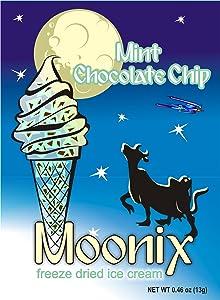 Moonix Freeze Dried Ice Cream. 5ct (Mint Chocolate Chip)