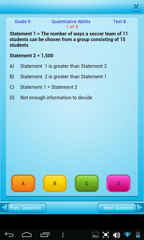 Amazon.com: FREE QVprep Lite 9th grade maths (quantitative) and ...