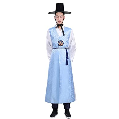 068046c58a XINFU Men's Korean Traditional Long Sleeve Classic Costume Hanbok Sets