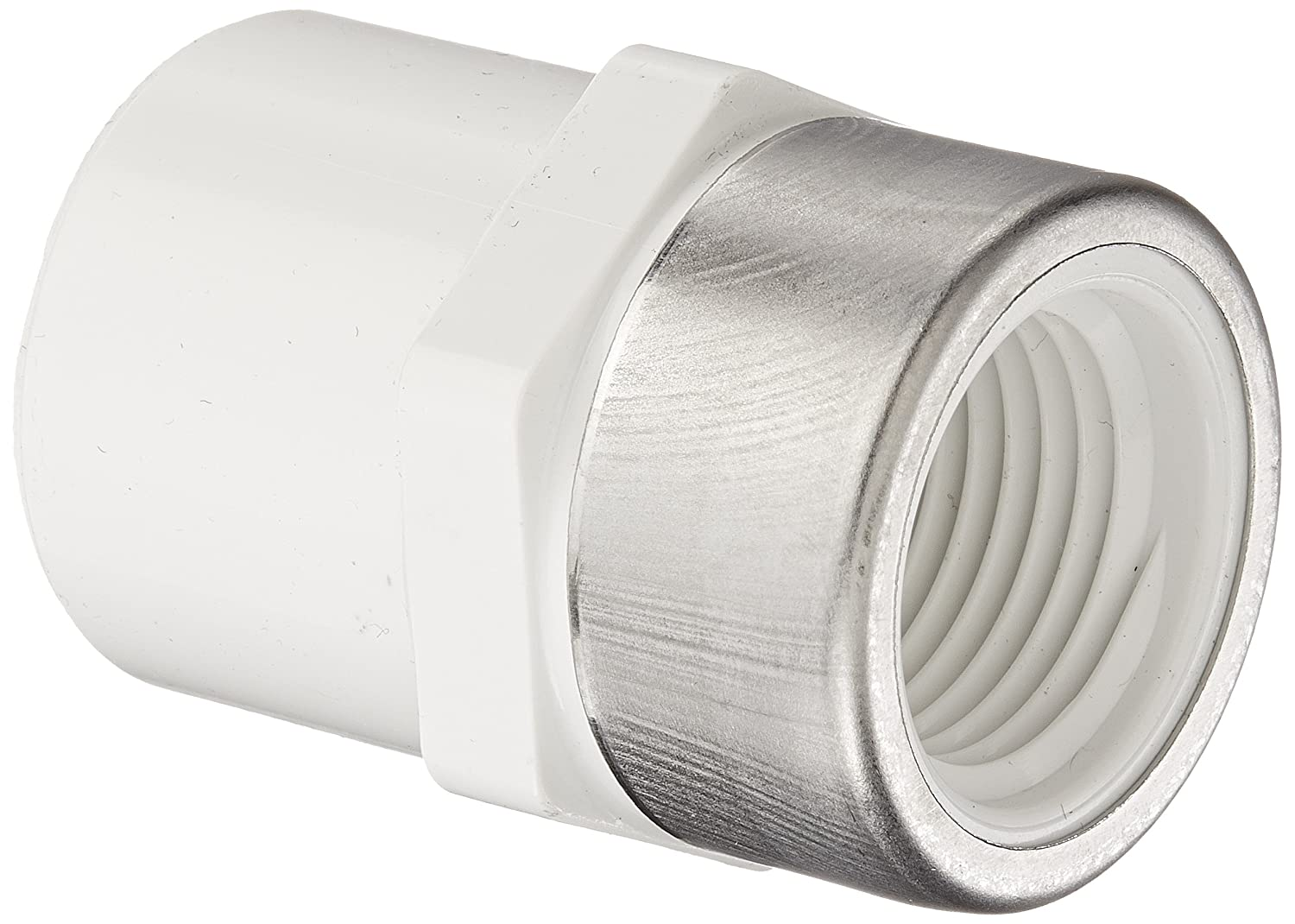 Schedule 40 1 Socket x 1 Steel Reinforced NPT Female Spears 435-SR Series PVC Pipe Fitting Adapter